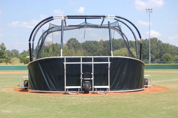 Portable Baseball Backstop Rear View