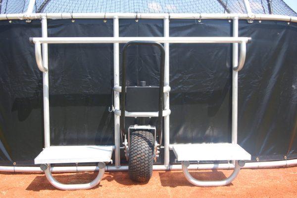 Portable Backstop Rear View Close Up