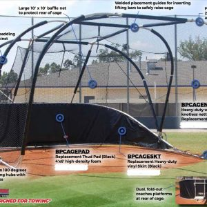 Portable Baseball Backstop Batting Cage