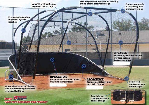 Portable Baseball Backstop Baseball turtle