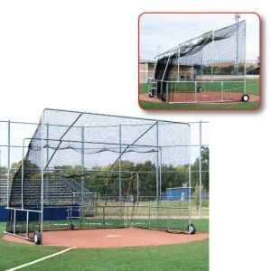rollaway backstop budget batting turtle - batting cage