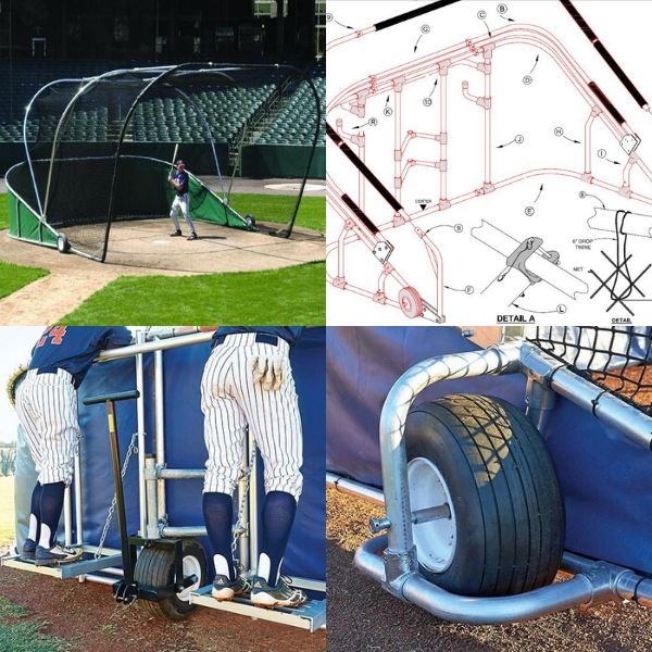 portable batting cage parts accessories