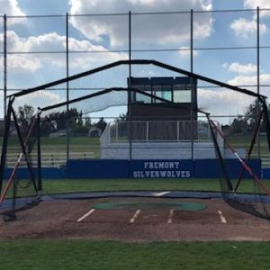 Portable Batting cage Front View